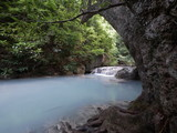 Erawan Waterfall  at Erawan National Park , Kanchanaburi , Thailand.