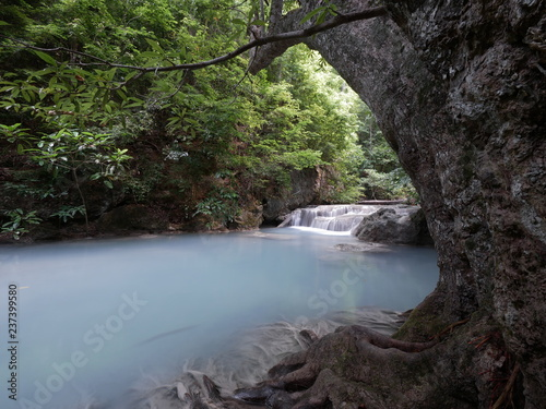 Erawan Waterfall  at Erawan National Park , Kanchanaburi , Thailand. - 237399580