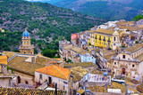 panorama of Ragusa Sicily Italy