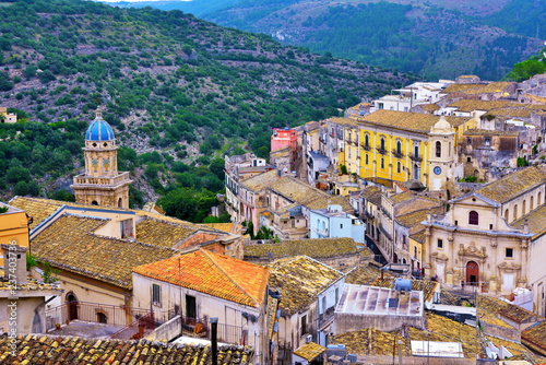panorama of Ragusa Sicily Italy - 237403736