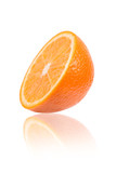 Sliced orange close up.