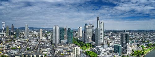 Leinwandbild Motiv luftbild frankfurt am main innenstadt