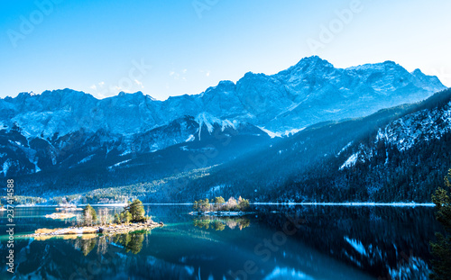 Leinwandbild Motiv eibsee lake in germany