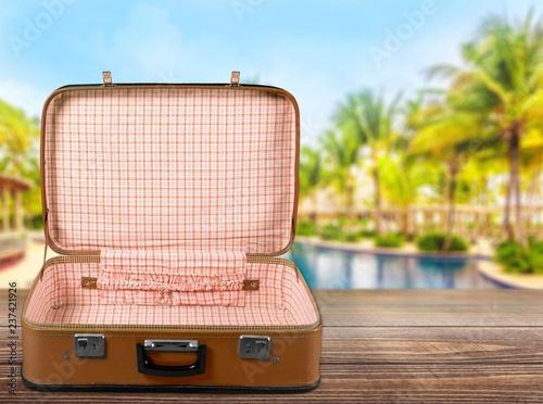 Vintage Suitcase  isolated on  background - 237421926