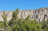 View of the Kasha-Katuwe Tent Rocks National Monument in New Mexico