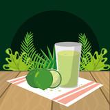 fresh fruit lemon cartoon - 237429740