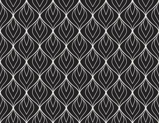 Abstract Seamless Art Deco Pattern. Stylish antique background. © Mangata