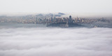 Panoramic View of Foggy San Francisco from Above the Clouds