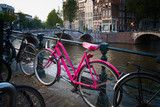 Pink bicycle in Amsterdam