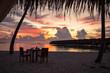 Beautiful sunset in the Maldives