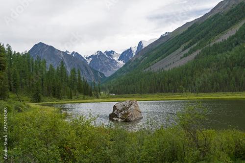 Shavla River. Altai Mountains, Russia. - 237444583