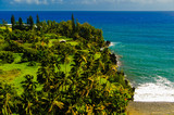 Spectacular ocean view on the Road to Hana, Maui, Hawaii, USA