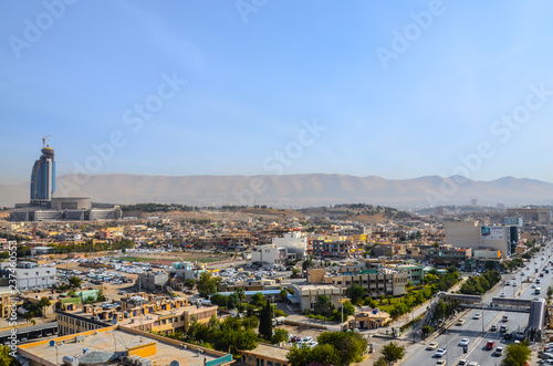 Sulaymaniyah city from the top, IRAQ - 237460553