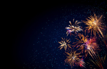 Abstract colored firework background . New Year background. © Swetlana Wall