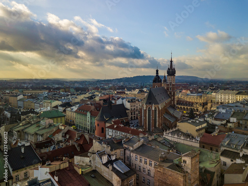 Krakow's Old Town from a bird's eye view, Poland - 237466112