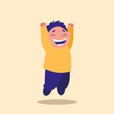 cute little boy jumping avatar character
