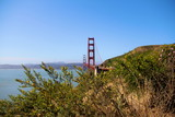 view of the golden gate bridge over the bay in San Francisco California