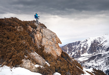 Climber in the mountains