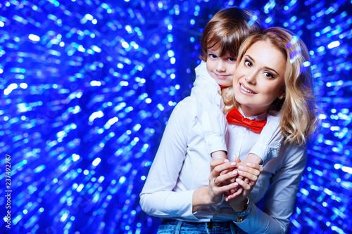 Leinwandbild Motiv family festive performance