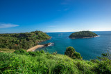Promthep Cape, Phuket is one of the most beautiful scenic spots in Phuket, with a wide range of tourists, scenic mountains, sea and blue sky.
