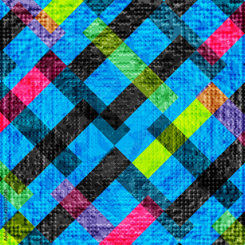 colored polygons on a blue background. abstract geometric background illustration - 237507545