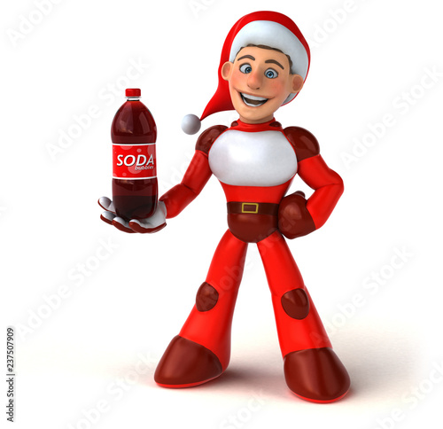 Fun Super Santa Claus - 3D Illustration - 237507909