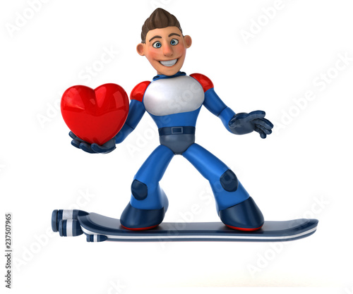Super modern superhero - 3D Illustration - 237507965