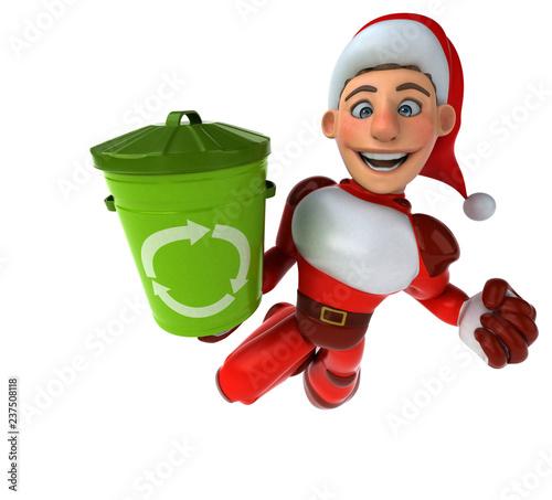 Fun Super Santa Claus - 3D Illustration - 237508118