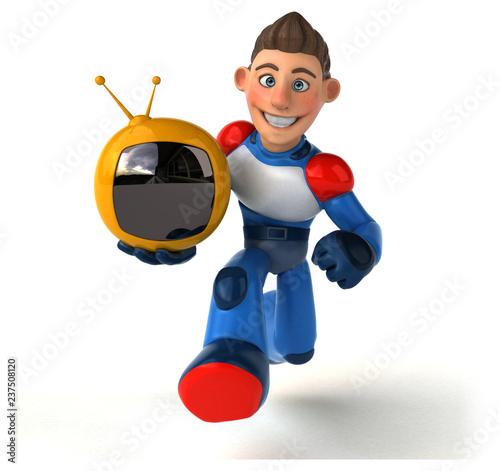 Super modern superhero - 3D Illustration - 237508120