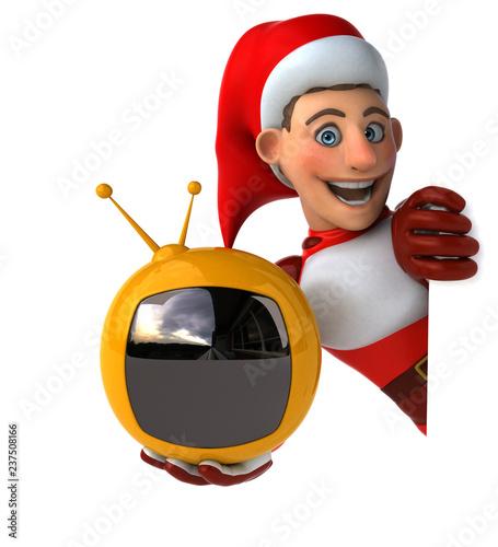 Fun Super Santa Claus - 3D Illustration - 237508166