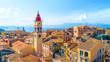 Leinwanddruck Bild - Panoramic view of Kerkyra, capital of Corfu island, Greece