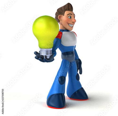 Super modern superhero - 3D Illustration - 237508750