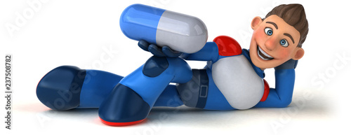 Super modern superhero - 3D Illustration - 237508782