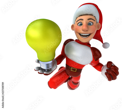 Fun Super Santa Claus - 3D Illustration - 237508789