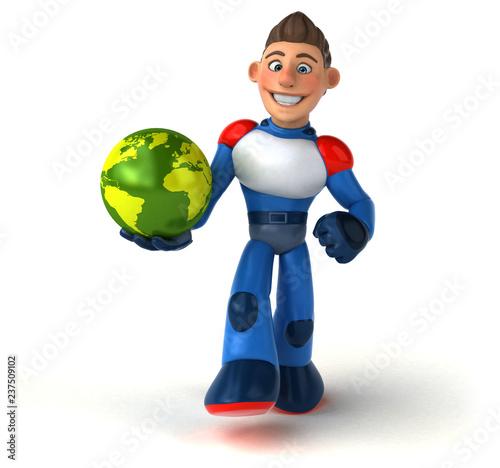 Super modern superhero - 3D Illustration - 237509102