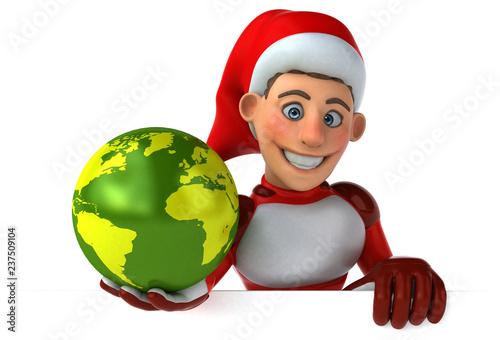 Fun Super Santa Claus - 3D Illustration - 237509104