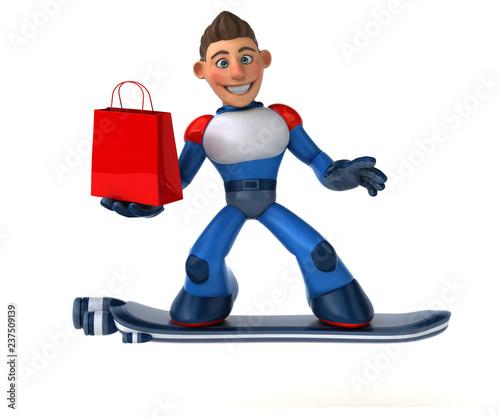 Super modern superhero - 3D Illustration - 237509139