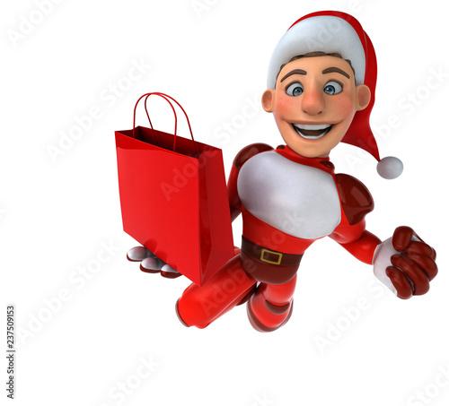 Fun Super Santa Claus - 3D Illustration - 237509153