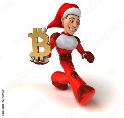 Fun Super Santa Claus - 3D Illustration - 237509356