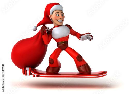 Fun super Santa Claus - 3D Illustration - 237509700