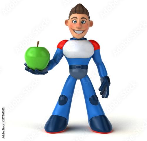 Super modern superhero - 3D Illustration - 237509943