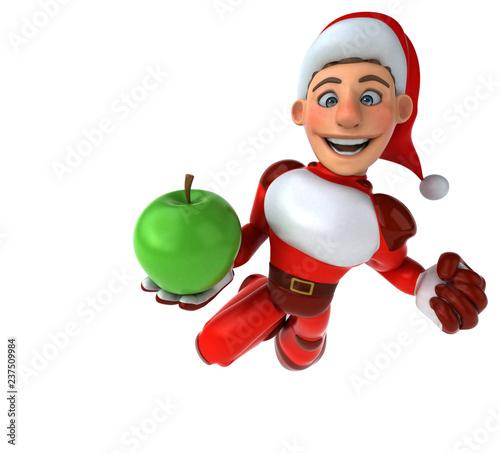 Fun Super Santa Claus - 3D Illustration - 237509984