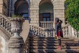 woman walking down stairs © Ирина Попова