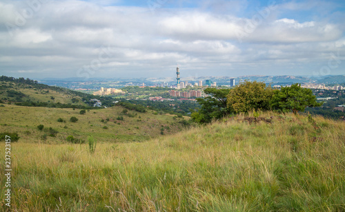 Pretoria, the capitol of South Africa, as viewed from the Klapperkop hill overlooking the city. - 237523157