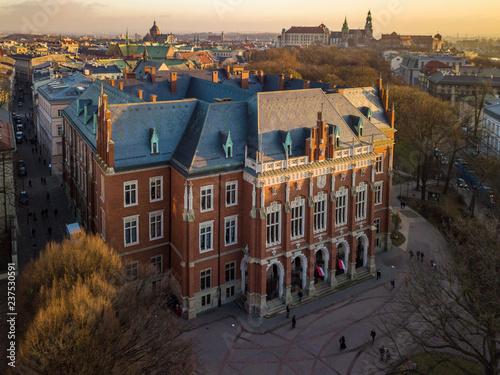Fototapeta Collegium Novum of the Jagiellonian University in Krakow, Poland