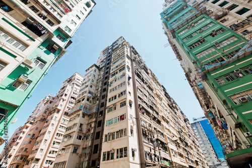Plakat Residential buildings in Hong Kong
