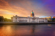 Custom house in Dublin at twilight - 237541726