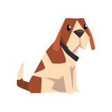 Beagle dog, cute  animal cartoon character vector Illustration on a white background