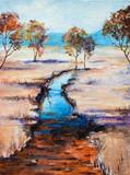 landscape acrylic painting on canvas