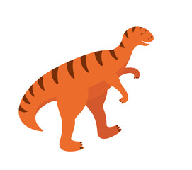Child illustration of a cute orange dinosaur © Кристина Чистякова